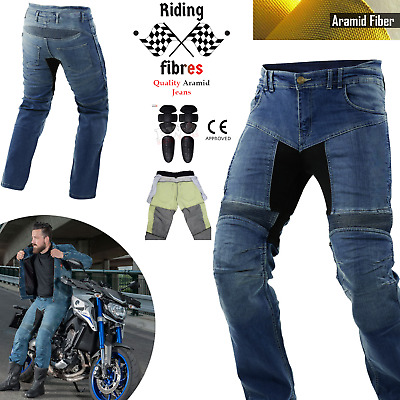 Motorcycle Jeans Motorbike Pants Denim Trousers Aramid Protective Biker Armour