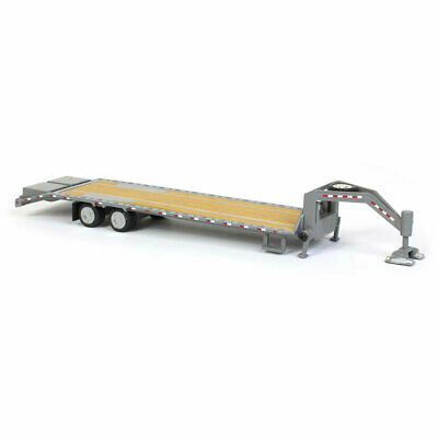 1/64 Gray Gooseneck Trailer by Greenlight, Bonus Truck NEW