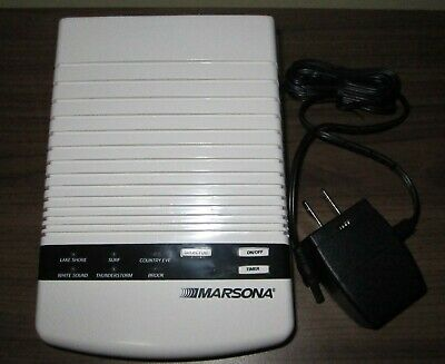 Marsona Sound Therapy Sleeping Aid ~ 6 Settings ~ Works Great