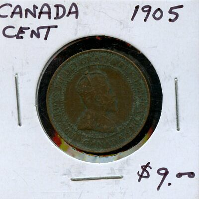 1905 Canada Large Cent Canadian Coin FP772