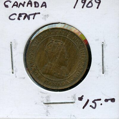 1909 Canada Large Cent Canadian Coin FP774