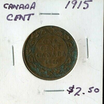 1915 Canada Large Cent Canadian Coin FP775