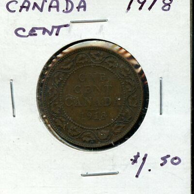 1918 Canada Large Cent Canadian Coin FP777