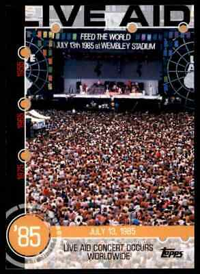 2015 Topps Series 1 Baseball History Live Aid Concert Occurs Worldwide #14A