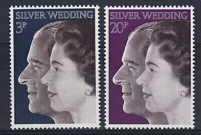 1972 Royal Silver Wedding Stamps Unmounted Mint