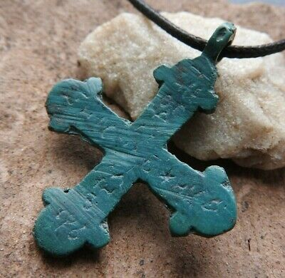 RARE cross in a green patina with a viking inscription of Kievan Rus 10-11 AD