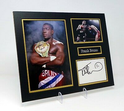 Frank BRUNO Signed Mounted Photo Display AFTAL Retired British Boxer