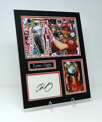 Ryan GIGGS Signed Mounted Photo Display AFTAL Ex Manchester United Footballer
