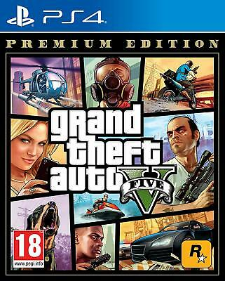 GTA Grand Theft Auto 5 V Five PS4 Game - Premium Edition Includes GTA Online
