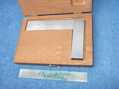 "STARRETT SQUARE No.55 BEVELED EDGE 4-1/2"" VINTAGE TOOLMAKER MACHINIST WOODEN BOX"