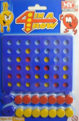 Traditional Games Mini 4 in a Row Connect 4 Boardgame. Great for Travel