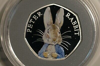 Fifty Pence 50p 2016 Beatrix Potter Series - Peter Rabbit Silver PROOF