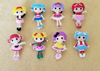 Lalaloopsy Doll 8 Pcs Crocs Shoe Jibbitz Charm Set