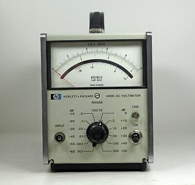 Hewlett Packard 400E AC Voltmeter - Tested Fully Functional