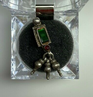 Late Medieval Islamic Ottoman Silver Pendant With Two Stones