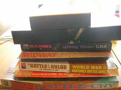 Large Collection Of Vtg 1960S-70S War Games.avalon Hill.ww2 Civil War Etc