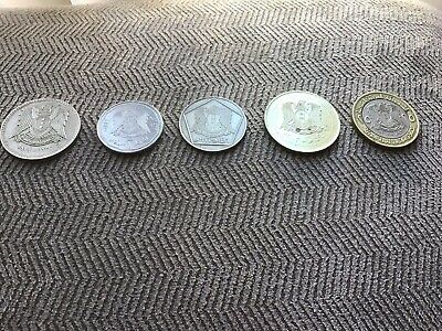 1,2,5,10,25 Syrian Pounds 1970-2003