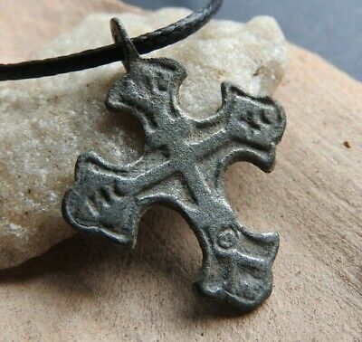 Bronze medieval cross of the 16-18th century