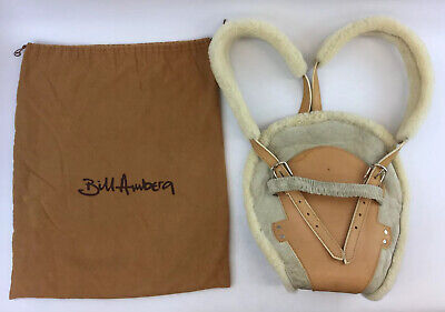 Bill Amberg Luxury Sheepskin Leather Baby Sling Carrier Papoose & Bag (G1)