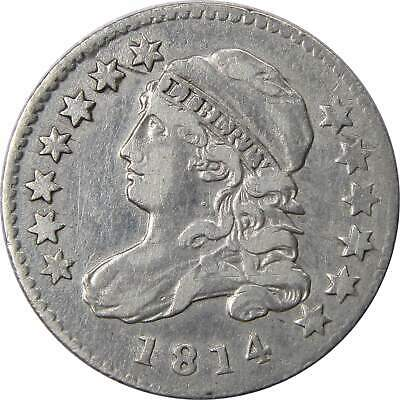 1814 10c Capped Bust Silver Dime US Coin VF+ Very Fine