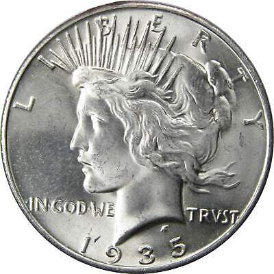 1935 $1 Peace Silver Dollar US Coin BU Very Choice Uncirculated Mint State