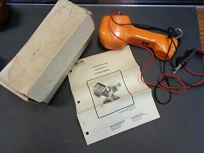 Metro Tel Corp, Mt-811 Linesman Phone Vintage, Telephone Orange Vtg, Instruction