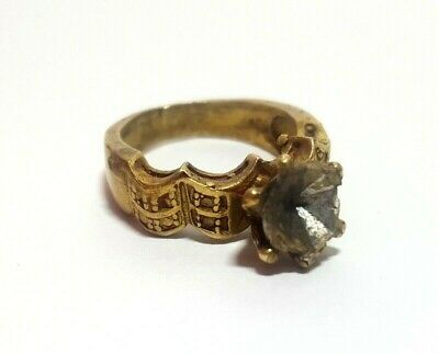 Roman Ring Ancient Bronze Rare Legionary Authentic Artifact Extremely Old Size 9