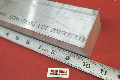 "2"" X 2"" ALUMINUM 6061 SQUARE BAR 10"" long Solid T6511 2.00"" New Flat Mill Stock"