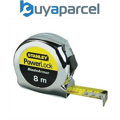 STANLEY POWERLOCK 33-158 5m//16ft TAPE MEASURE COMES WITH A VAT INVOICE