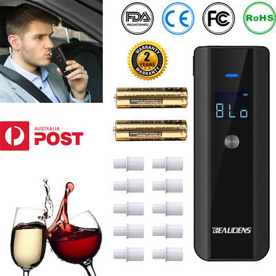 BEAUDENS Digital LCD Breath Alcohol Tester Analyzer Detector Police Breathalyzer