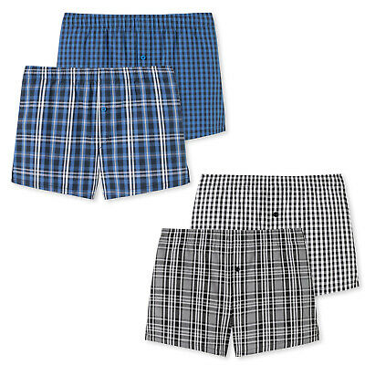 Schiesser Boys Webboxer Shorts 2 Pack - Boxer Shorts, Cotton, Checked