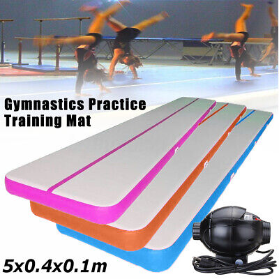12/20/26FT Airtrack Air Track Floor Inflatable Gymnastics Tumbling Mat GYM Pump