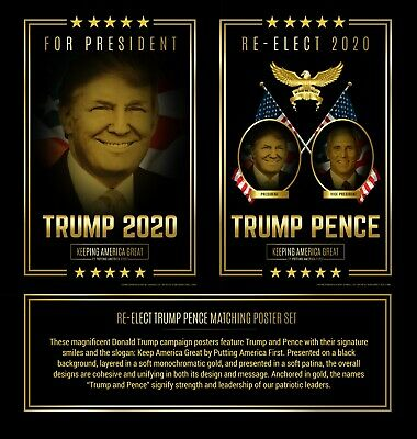 Donald Trump and Mike Pence Campaign Poster Set (2020)