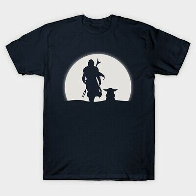 Mando Moon Star War The Child Mandalorian Manda Baby Yoda T-Shirt