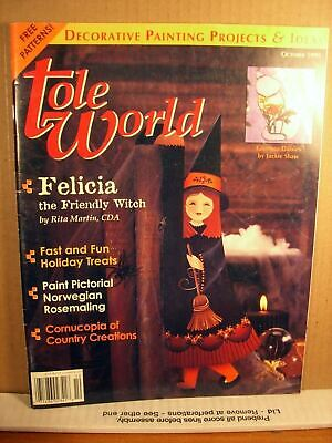 Tole World Magazine October 1995 Felicia the Friendly Witch
