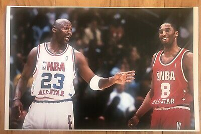 Michael Jordan & Kobe Bryant NBA All-Star Game Poster 11 X 17