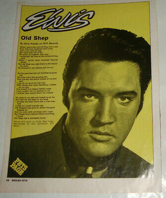 Elvis Presley - Old Shep -Magazine Songwords Poster/Clipping - 28.5 X 21.5Cm