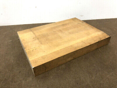 Vintage Butcher Block Section wood side table top industrial cutting board loft