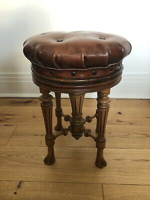 Antique Victorian Piano Stool by Brooks  Ltd