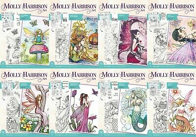 Crafters Companion A6 December Fairy Collection Unmounted Rubber Stamps