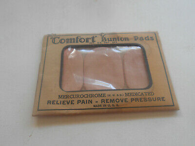 Antique Early 1900S Unopened Comfort Bunion Pads.forrest City Rubber Product
