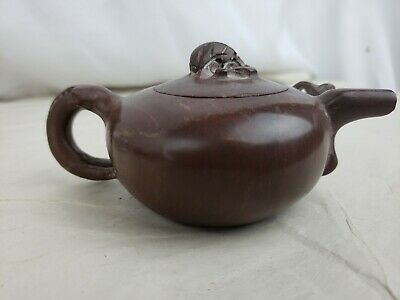 Superb old chinese carved stone teapot, minor issues