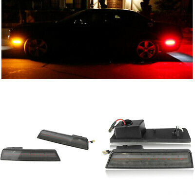 Smoked Lens Front & Rear Side Lamps LED Lights For 08-14 Dodge Challenger MA