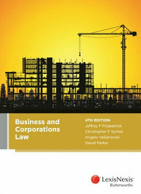 NEW Business and Corporations Law, 4th edition By Christopher Symes Paperback