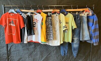 NIKE ADIDAS Boys Summer Clothes Bundle Age 8-9 Jumpers Jeans Shorts TShirts Tops