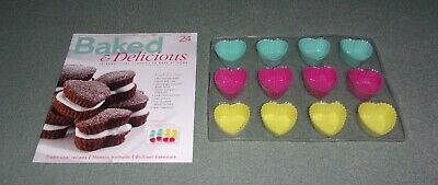 Baked & Delicious Magazine Issue 24 with Silicone Heart-Shaped Mini Moulds NEW