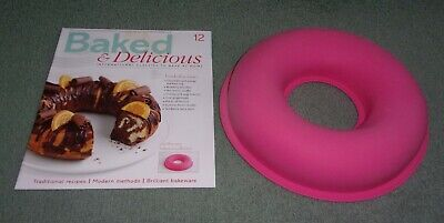 Baked & Delicious Magazine Issue 12 & Silicone Ring Mould Baking Accessory NEW