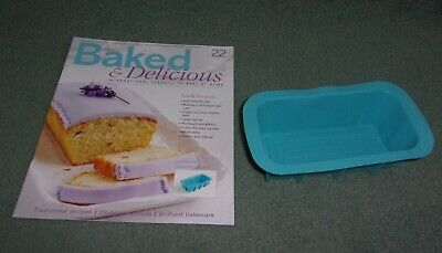 Baked & Delicious Magazine Issue 22 with Medium Silicone Loaf Pan Accessory NEW
