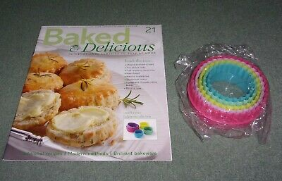 Baked & Delicious Magazine Issue 21 with a Set of Five Round Pastry Cutters NEW