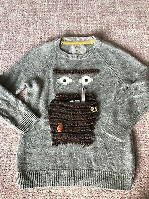 Mini Boden X Roald Dahl Limited Edition Mr Twit Grey Jumper - Suit 4 5 6 Years